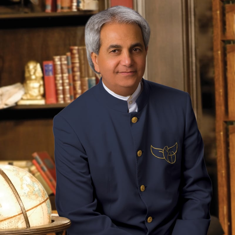 Pastor Benny Hinn in his office