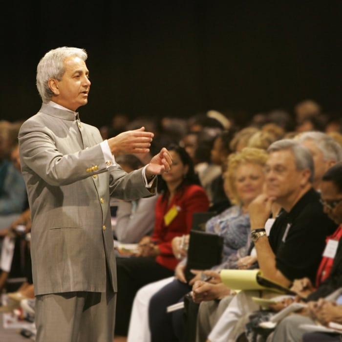 Pastor Benny Hinn teaching