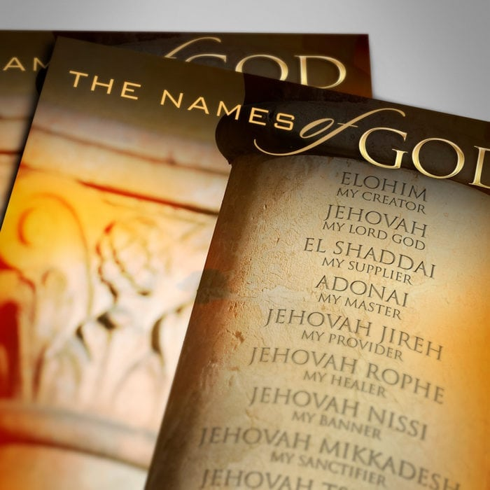 The Names of God Poster Top View