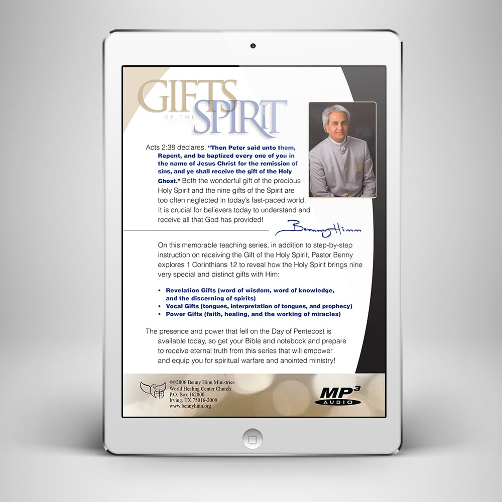 Gifts of the Spirit - Back Cover - Benny Hinn Ministries