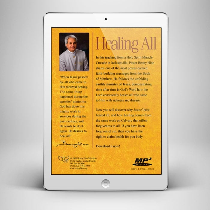 Healing All - Back Cover - Benny Hinn Ministries