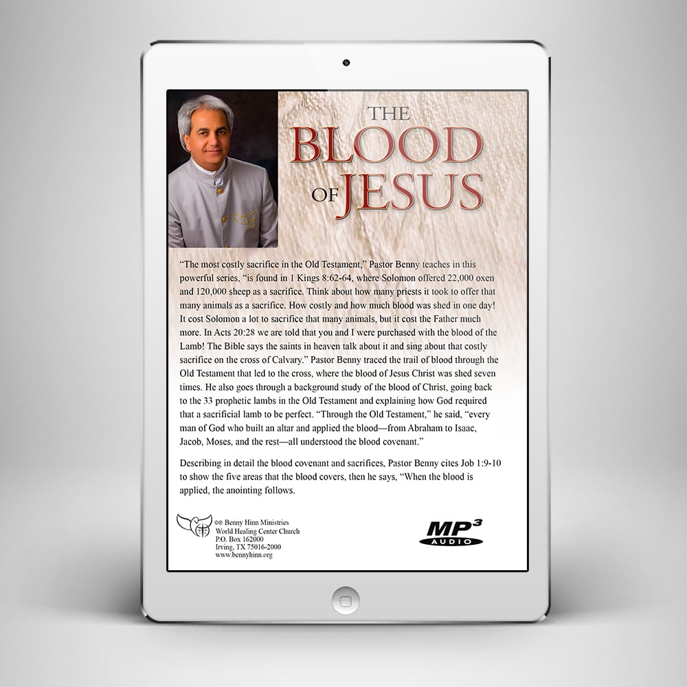 The Blood of Jesus - Back Cover - Benny Hinn Ministries