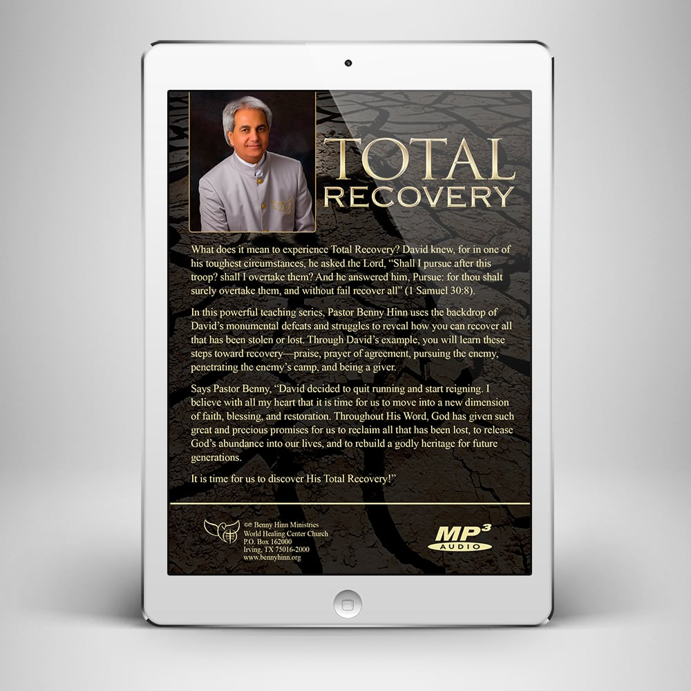 Total Recovery - Back Cover - Benny Hinn Ministries