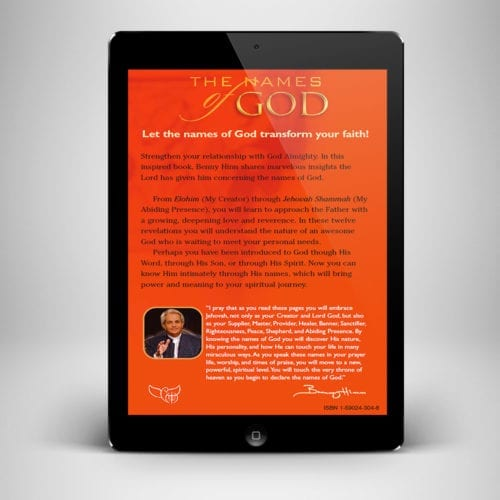 The Names of God eBook - back cover - Benny Hinn Ministries